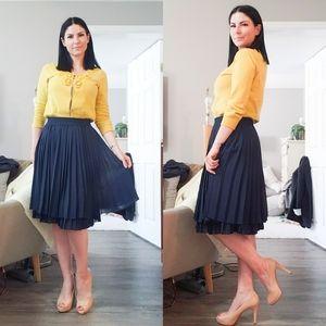Milly * Gossip Girl Yellow Beaded Cardigan Sz L